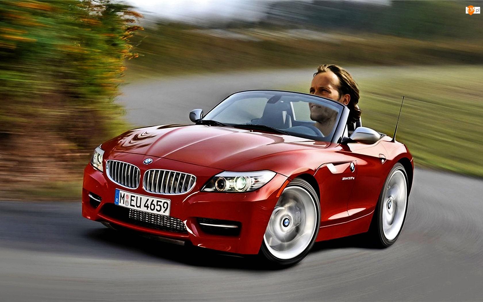Karykatura, BMW Z4, Kierowca