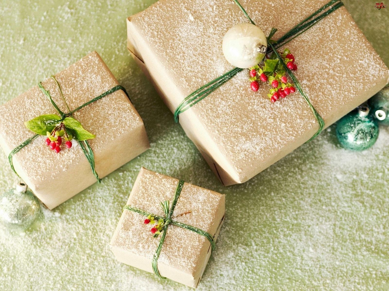 Święta, Śniegu, Prezenty, Płatki