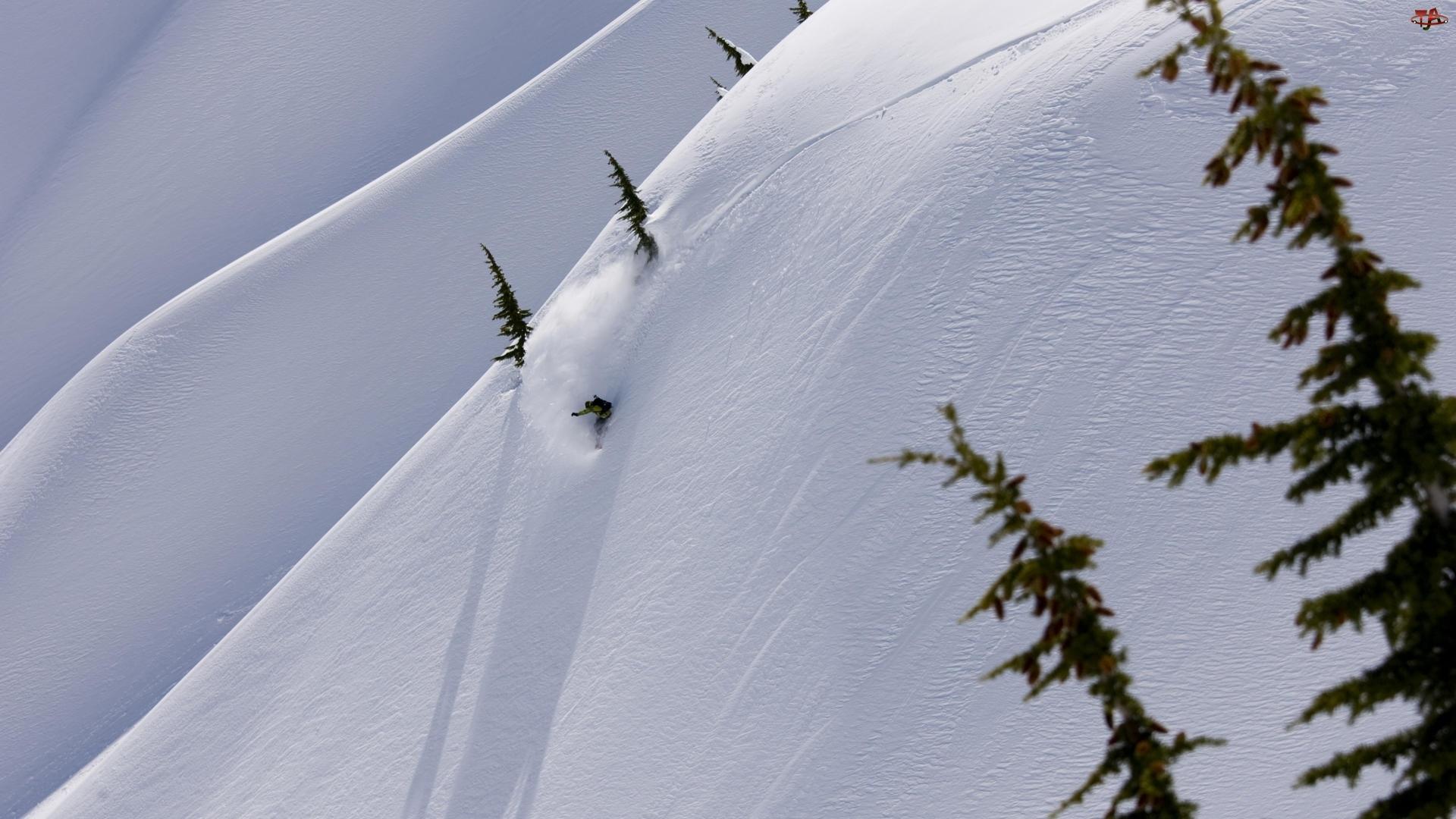 Snowbording, Góry, Stok