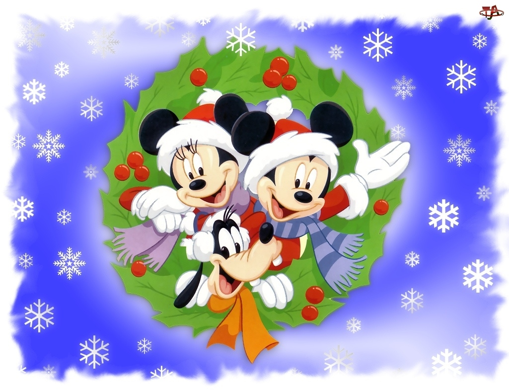 Płatki, Boże, Myszka, Film, Śniegu, Miki, Narodzenie
