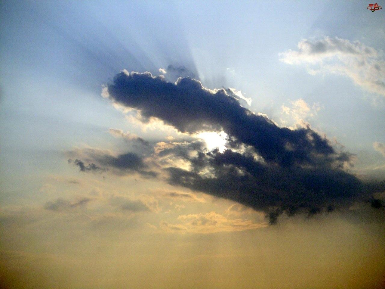 Chmury, Ciemne, Burzowe