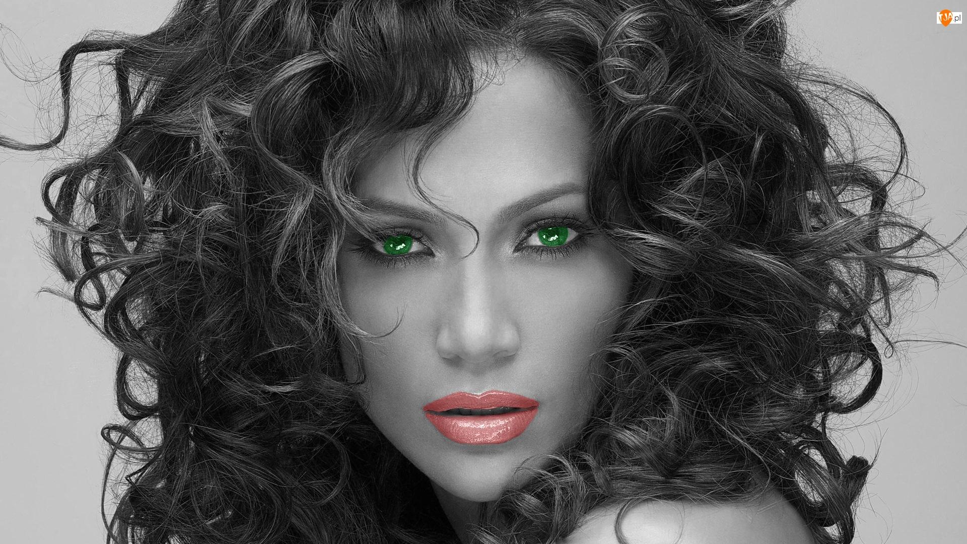 Włosy, Jennifer Lopez, Oczy, Zielone, Gęste