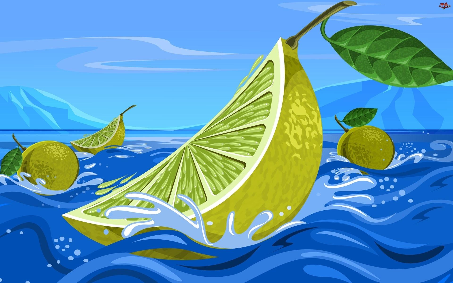 Woda, Owoce, Cytrusy, Limonki