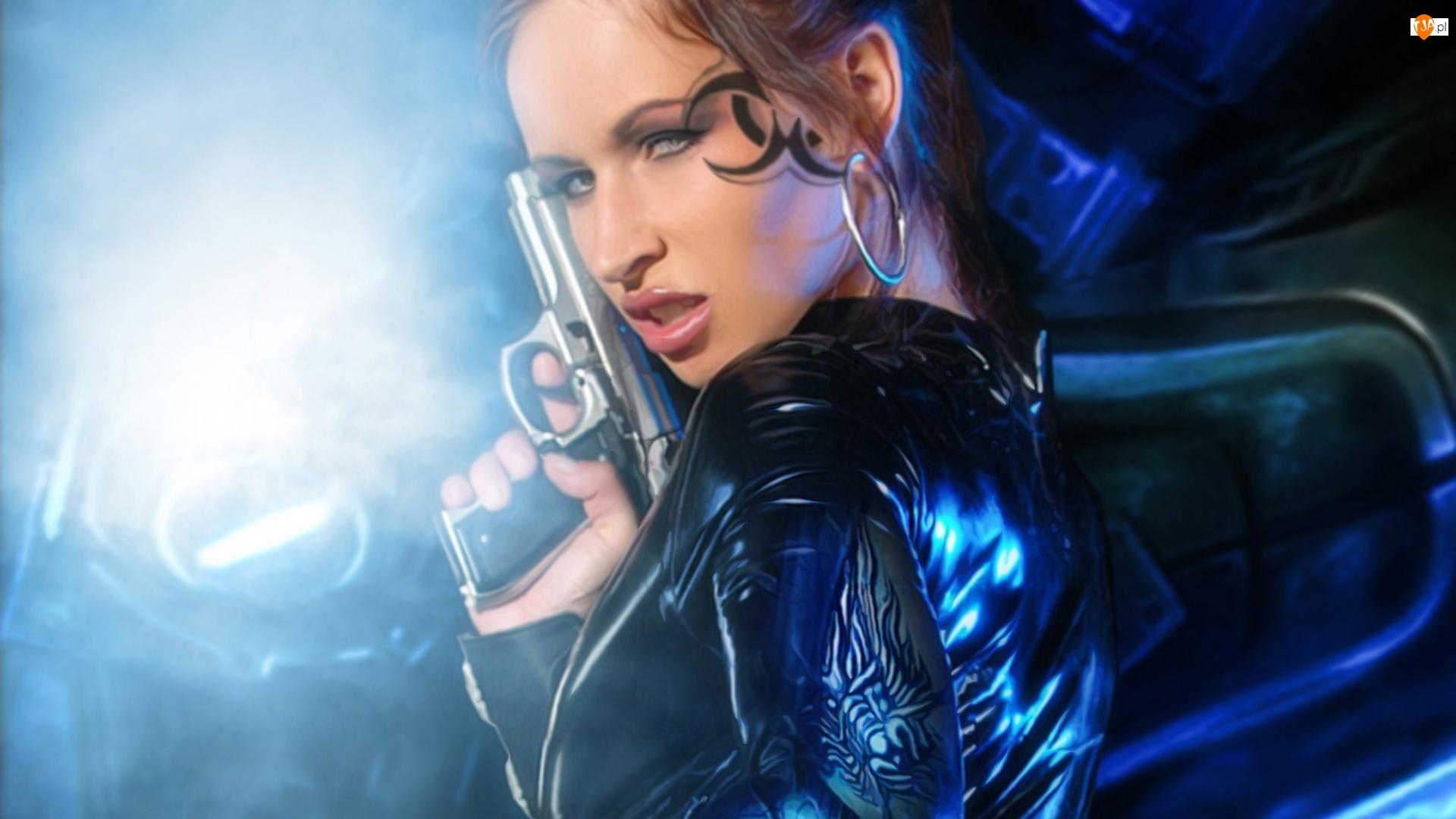 Broń, Dziewczyna, Tatuaż