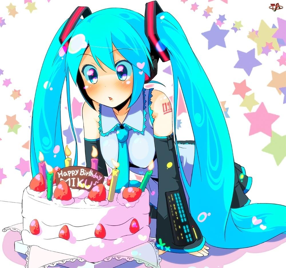 Urodzinowy, Vocaloid, Tort