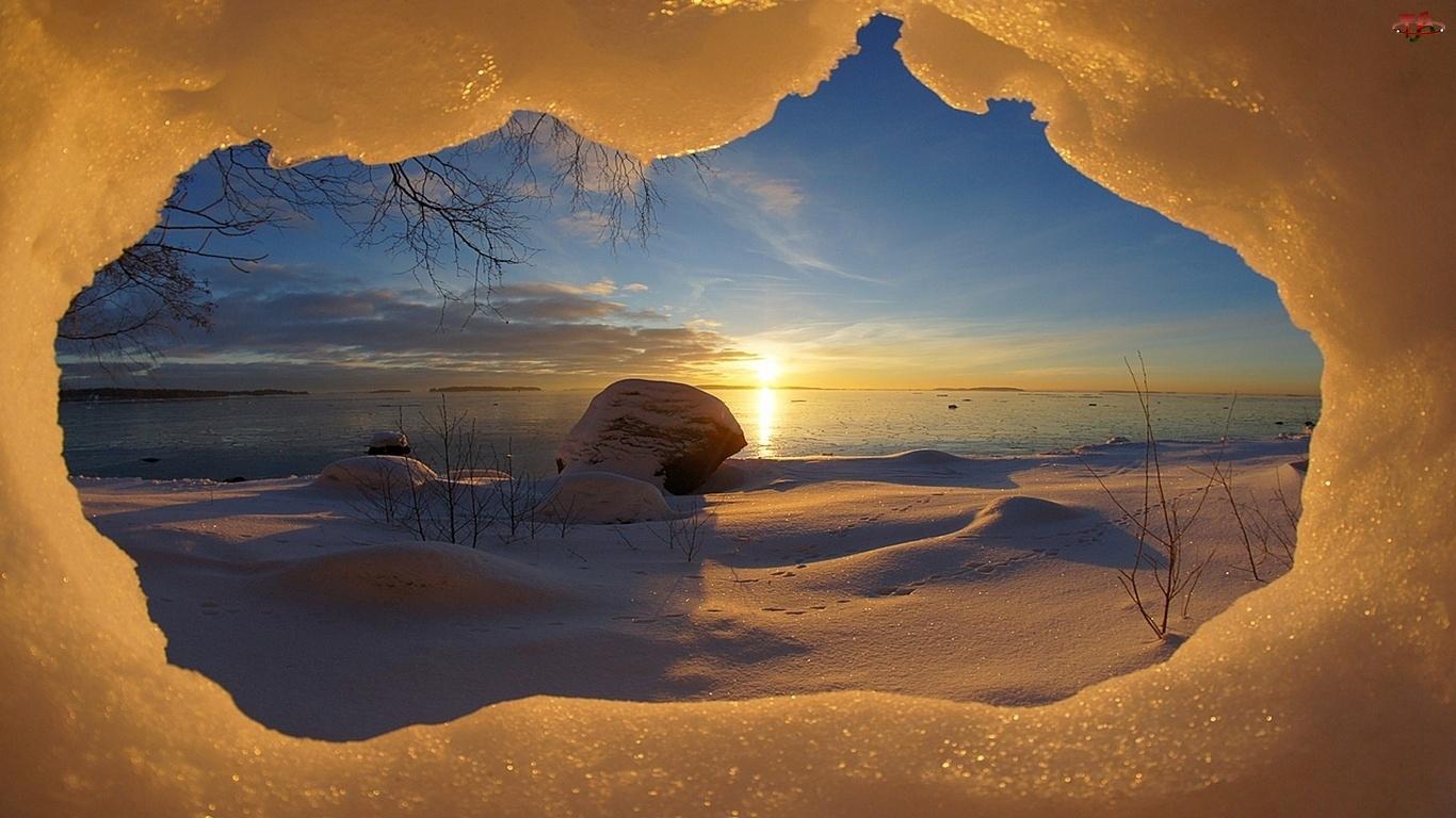 Słońce, Zima, Jaskinia