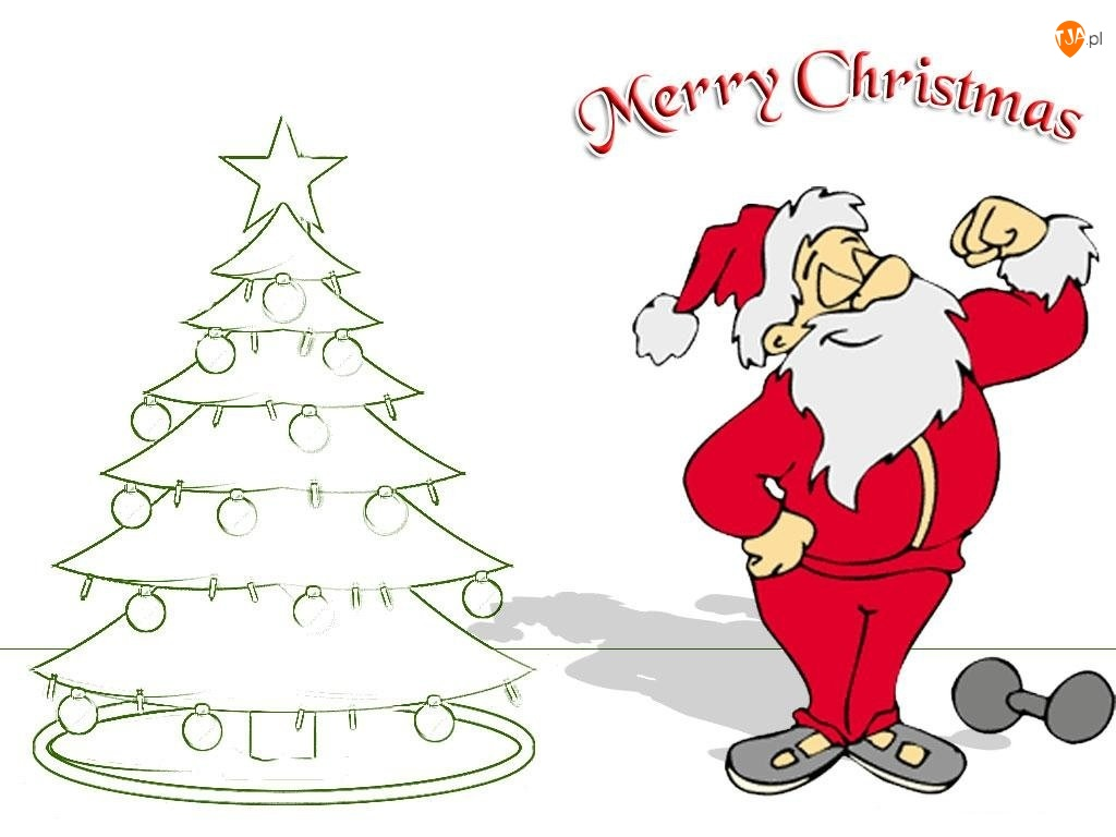 choinka, Boże Narodzenie, mikołaj