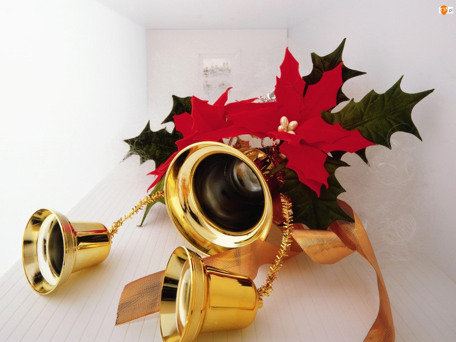 Stroik, Święta, Złote, Dzwoneczki