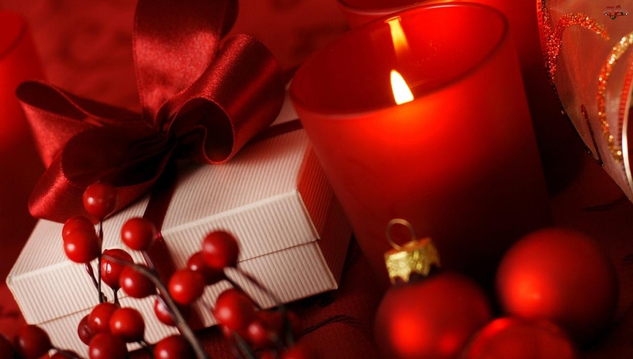 Kompozycja, Świeca, Ozdoby, Świąteczne
