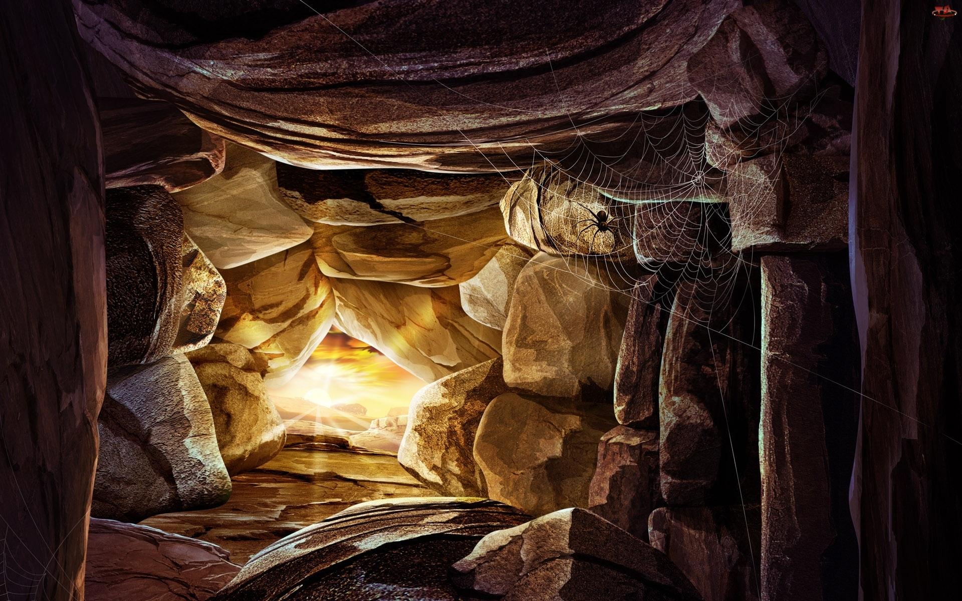 Jaskinia, Pająk