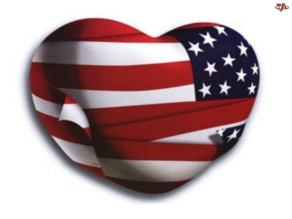 Walentynki, serce USA