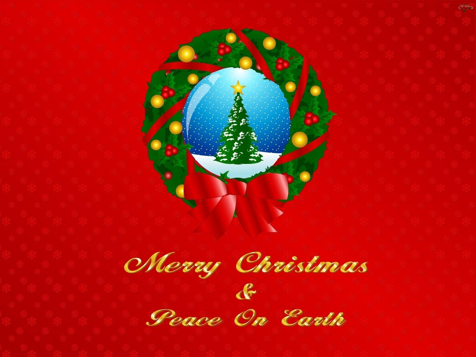 Choinka, Merry, Christmas