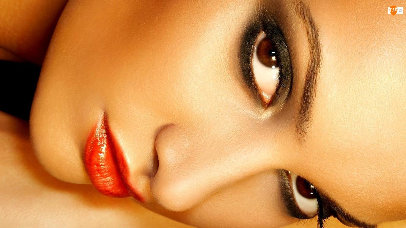 Makijaż, Nos, Usta, Oczy