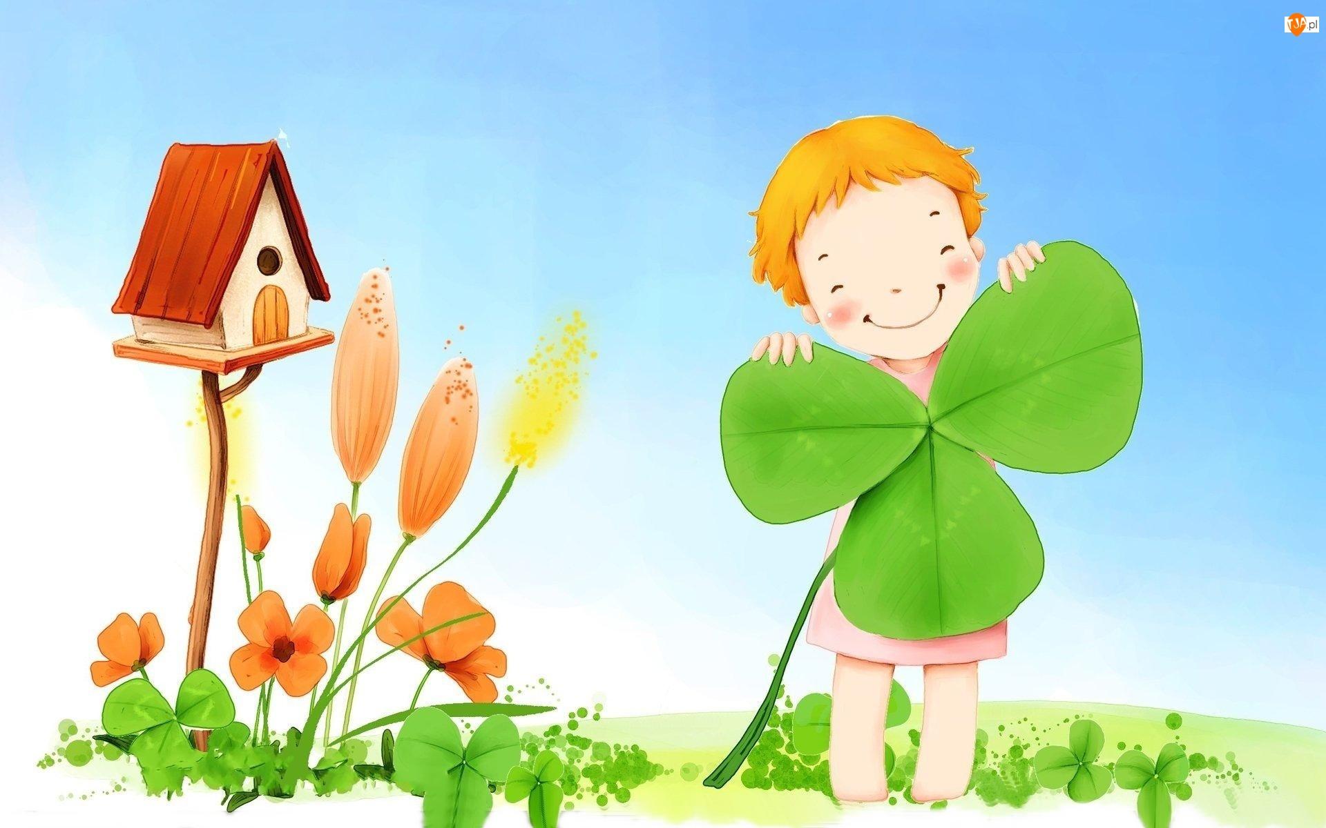 Koniczyna, Dziecko, Kwiaty