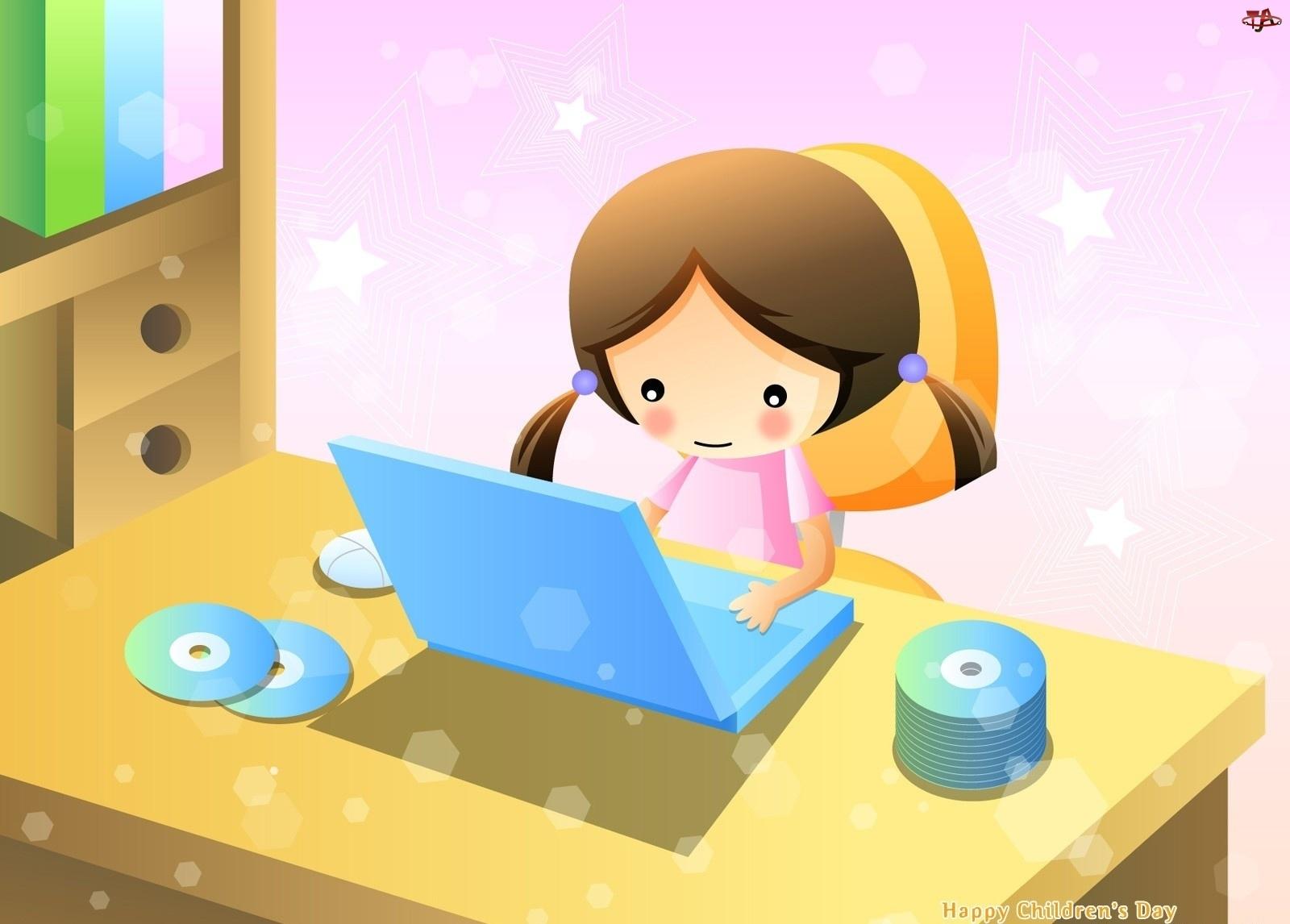 Płyty CD, Dziecko, Komputer
