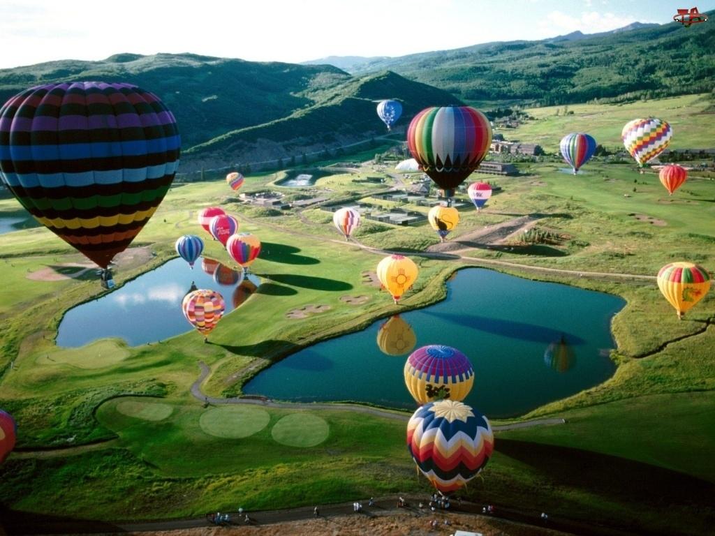 Balony, Pola, Jeziora