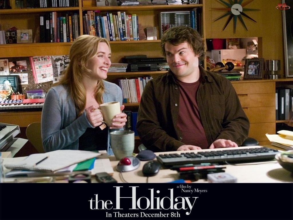 Holiday, biuro, Jack Black, Kate Winslet