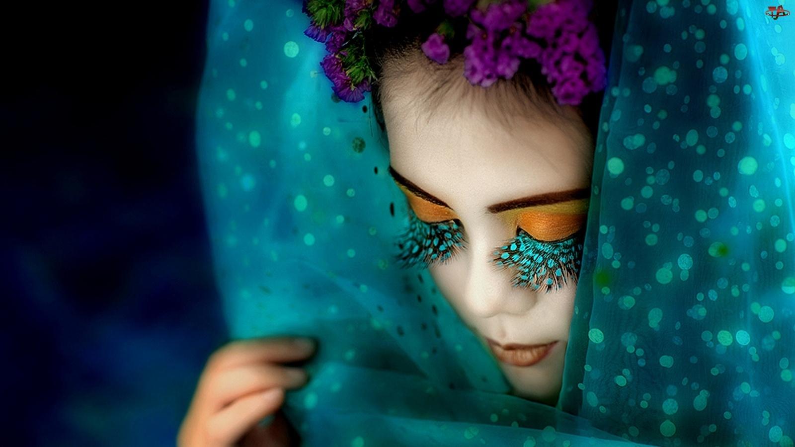 Makijaż, Kobieta, Egzotyczny