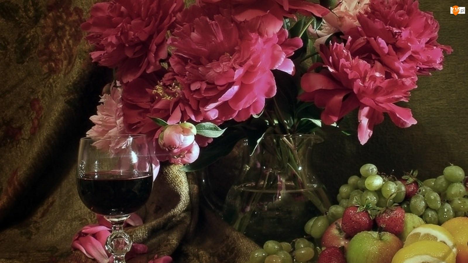 Wino, Piwonie, Owoce