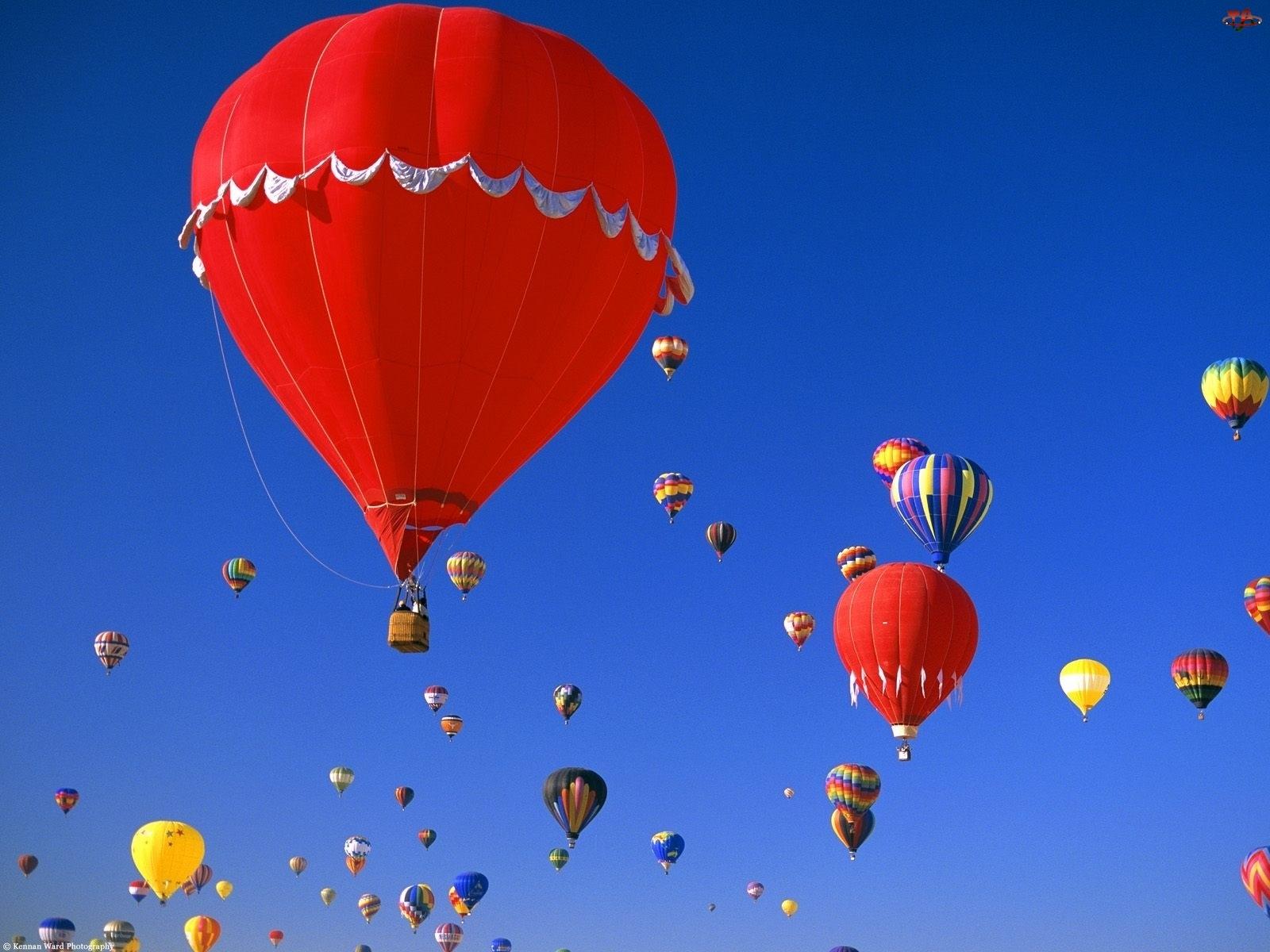 Balony, Niebo, Kolorowe