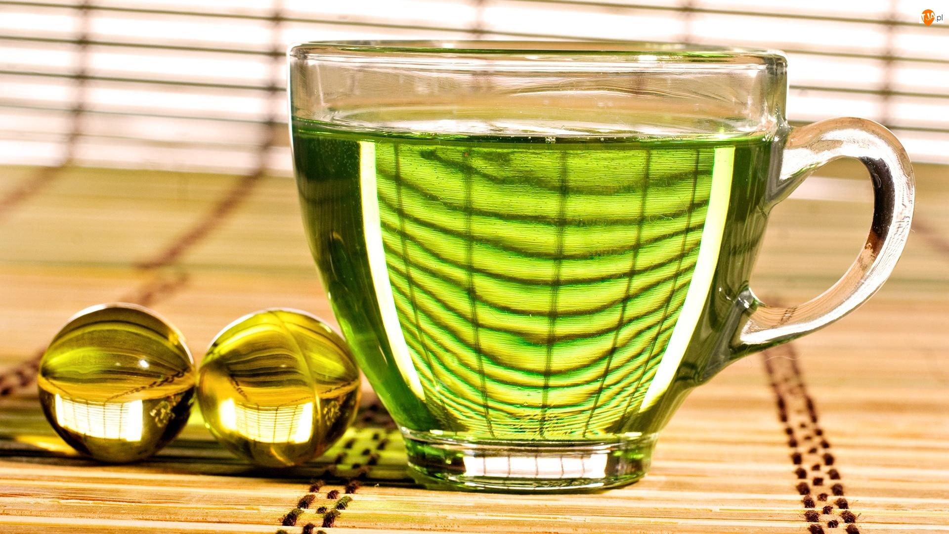 Herbaty, Filiżanka, Zielonej