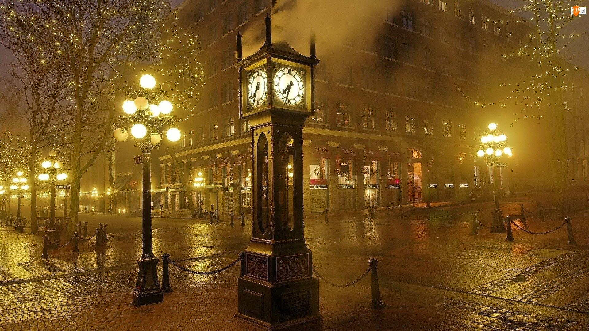 Nocą, Zegar, Londyn