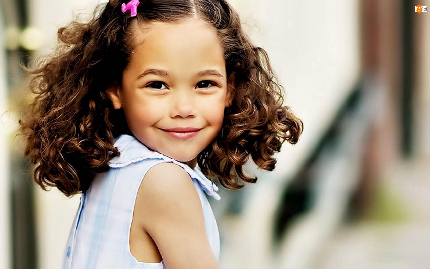 Uśmiech, Dziewczynka, Portret