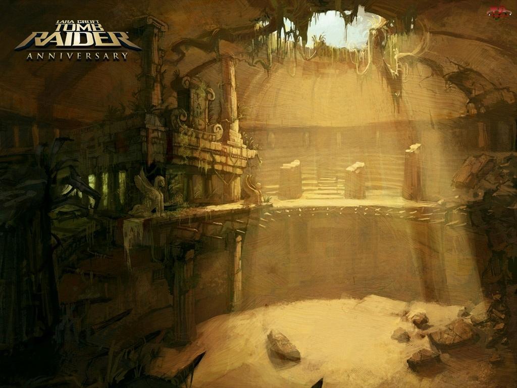 grota, światło, świątynia, Tomb Raider Anniversary, kurhan