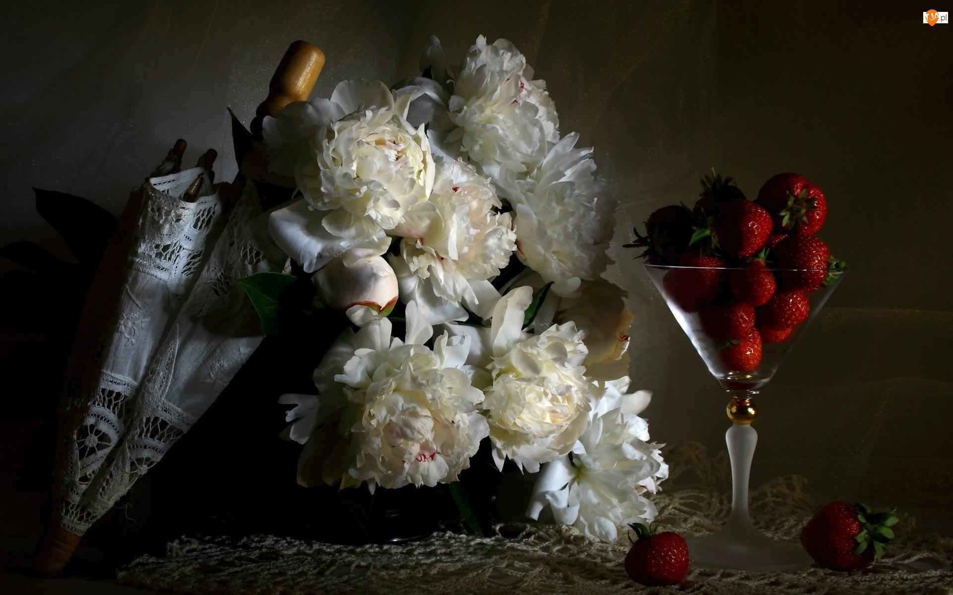 Kwiatów, Parasolka, Truskawki, Kielich, Bukiet