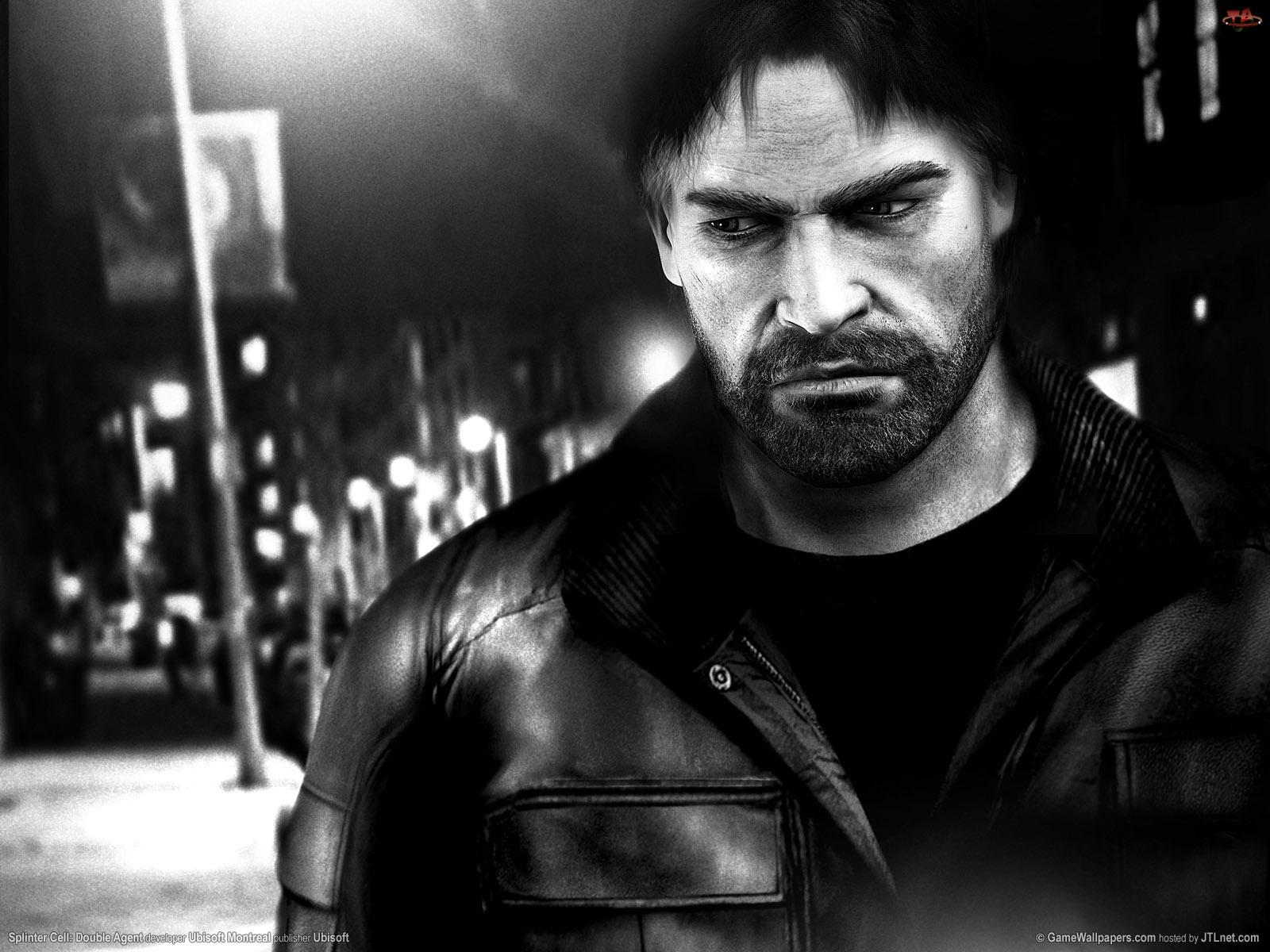 Splinter Cell Double Agent, mężczyzna, kurtka, broda, skórzana