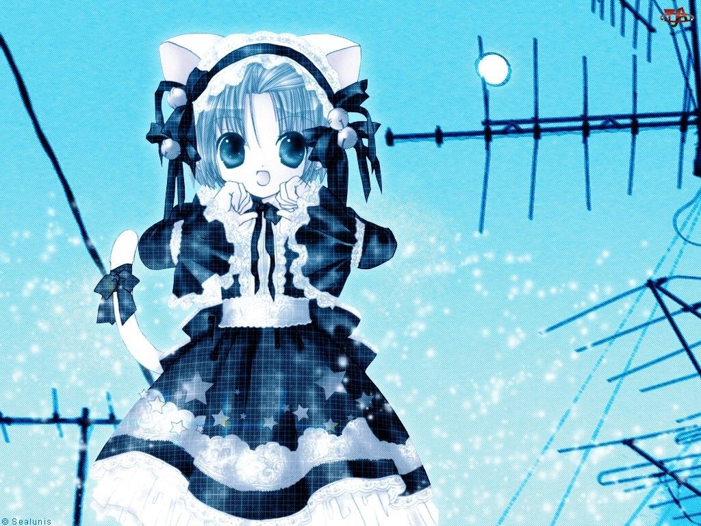 Digi Charat, sukienki, anteny, dziewczyna