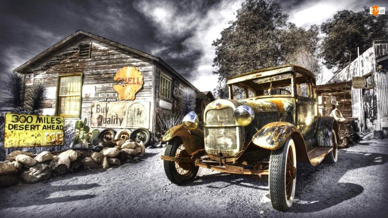 Zabudowania, Starodawny, Samochód