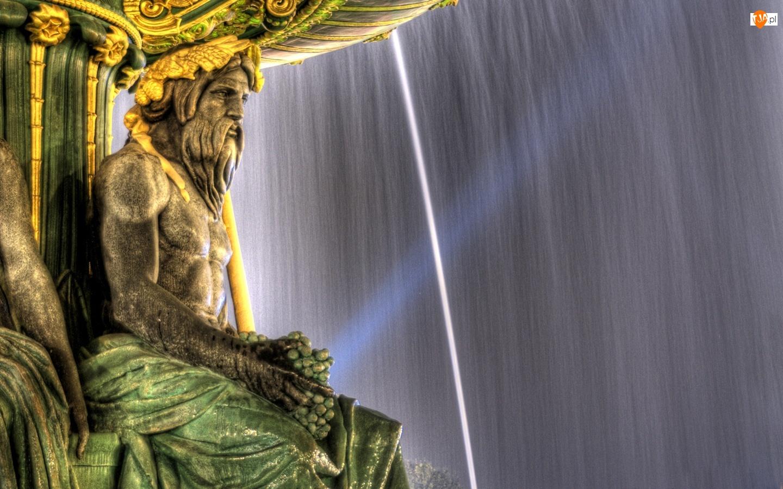 Woda, Fontanna, Posąg