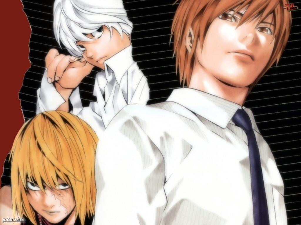 Death Note, postacie, koszula, krawat