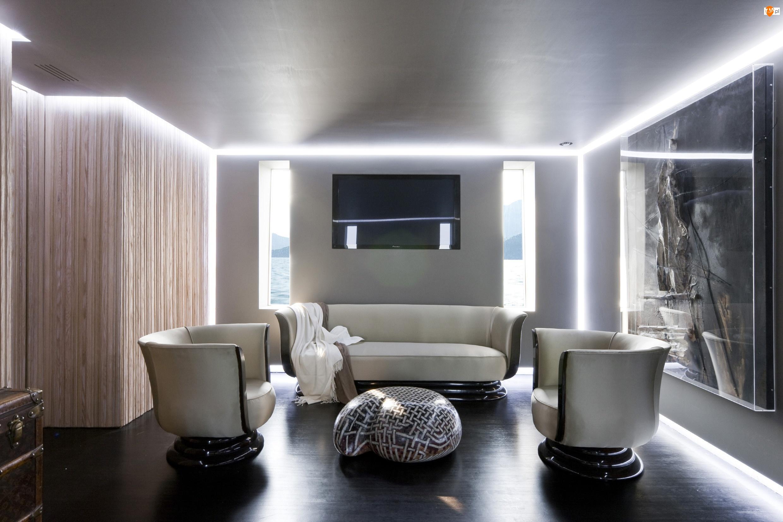 Obraz, Pokój, Sofa, Fotele, Stolik