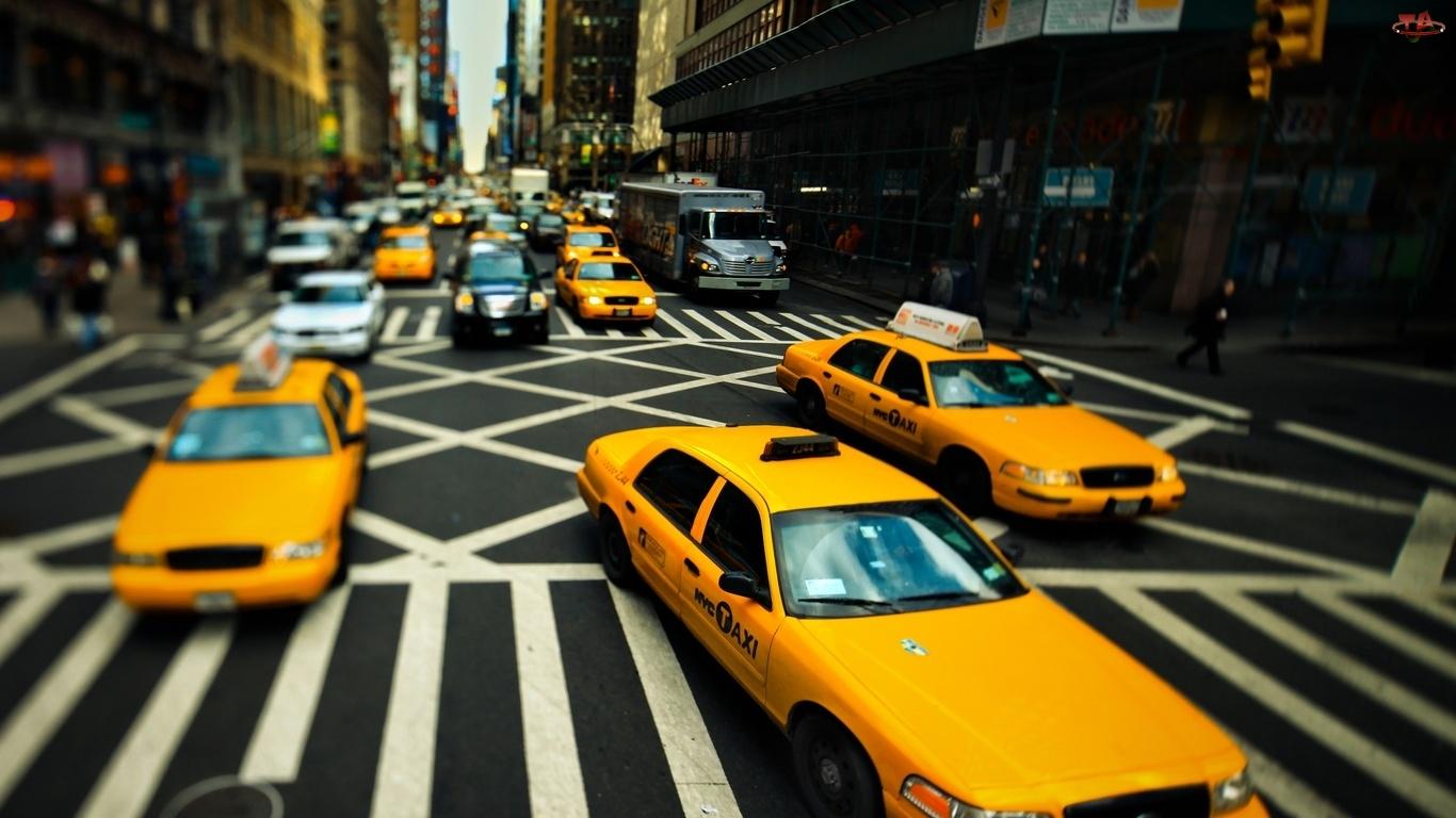 Nowy Jork, Budynki, Taxi, Ulica