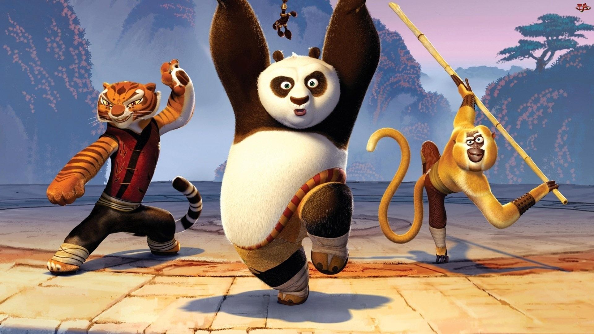 Taniec, Małpa, Panda, Tygrys