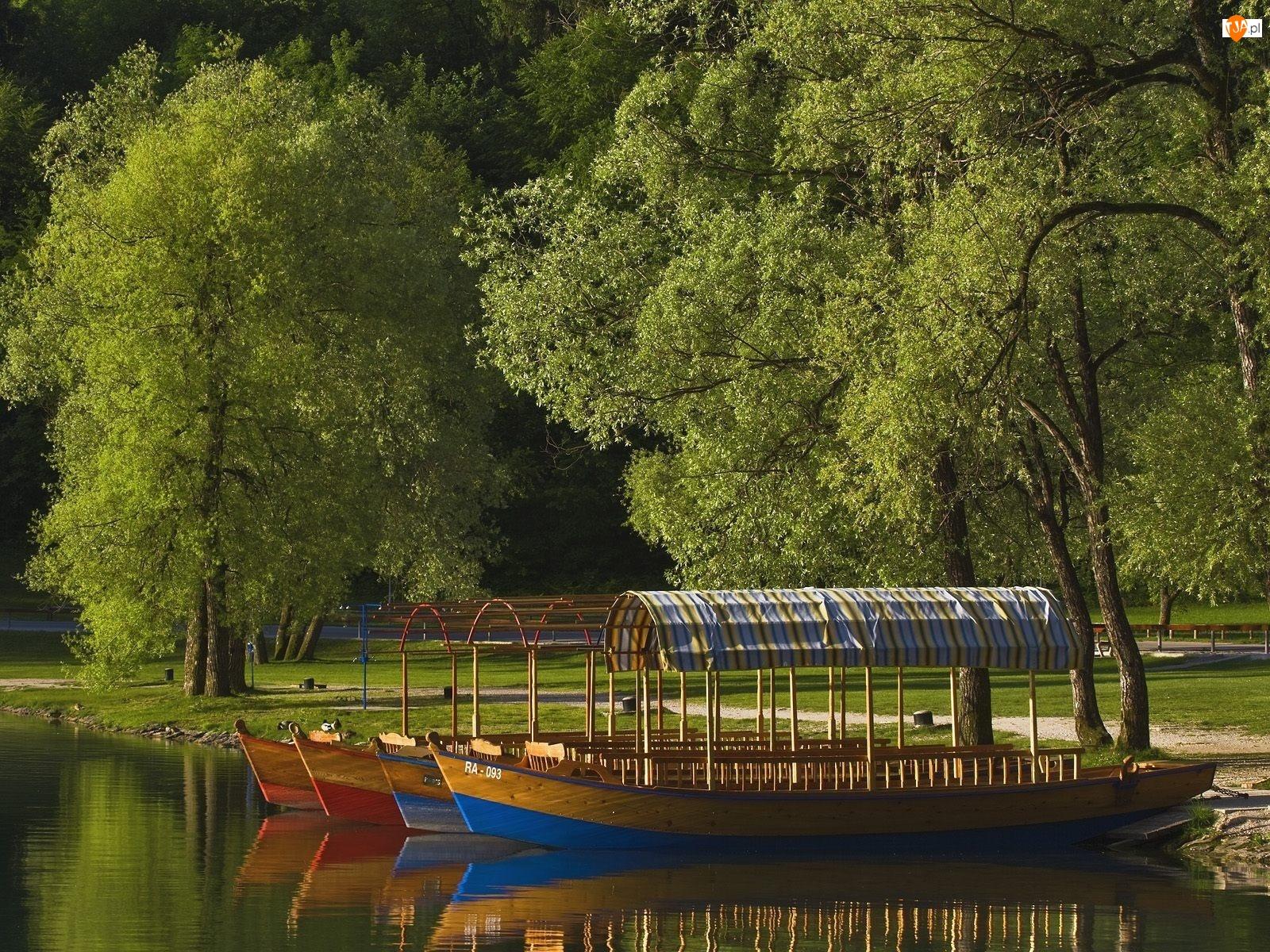 Łodzie, Park, Jezioro