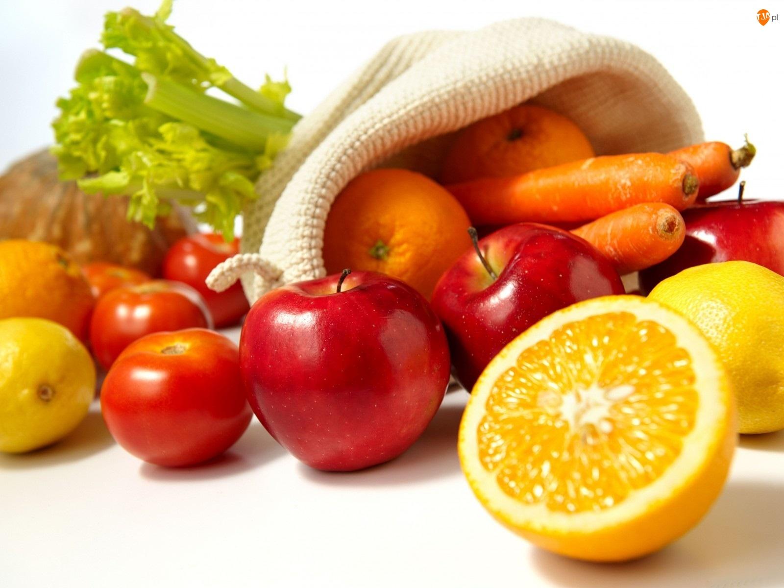 Warzywa, Worek, Owoce