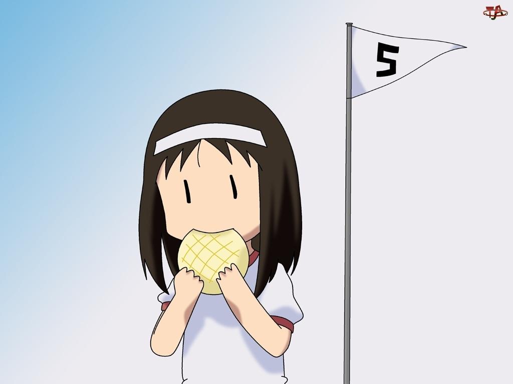 Azumanga Daioh, dziewczyna, flaga, ciastka