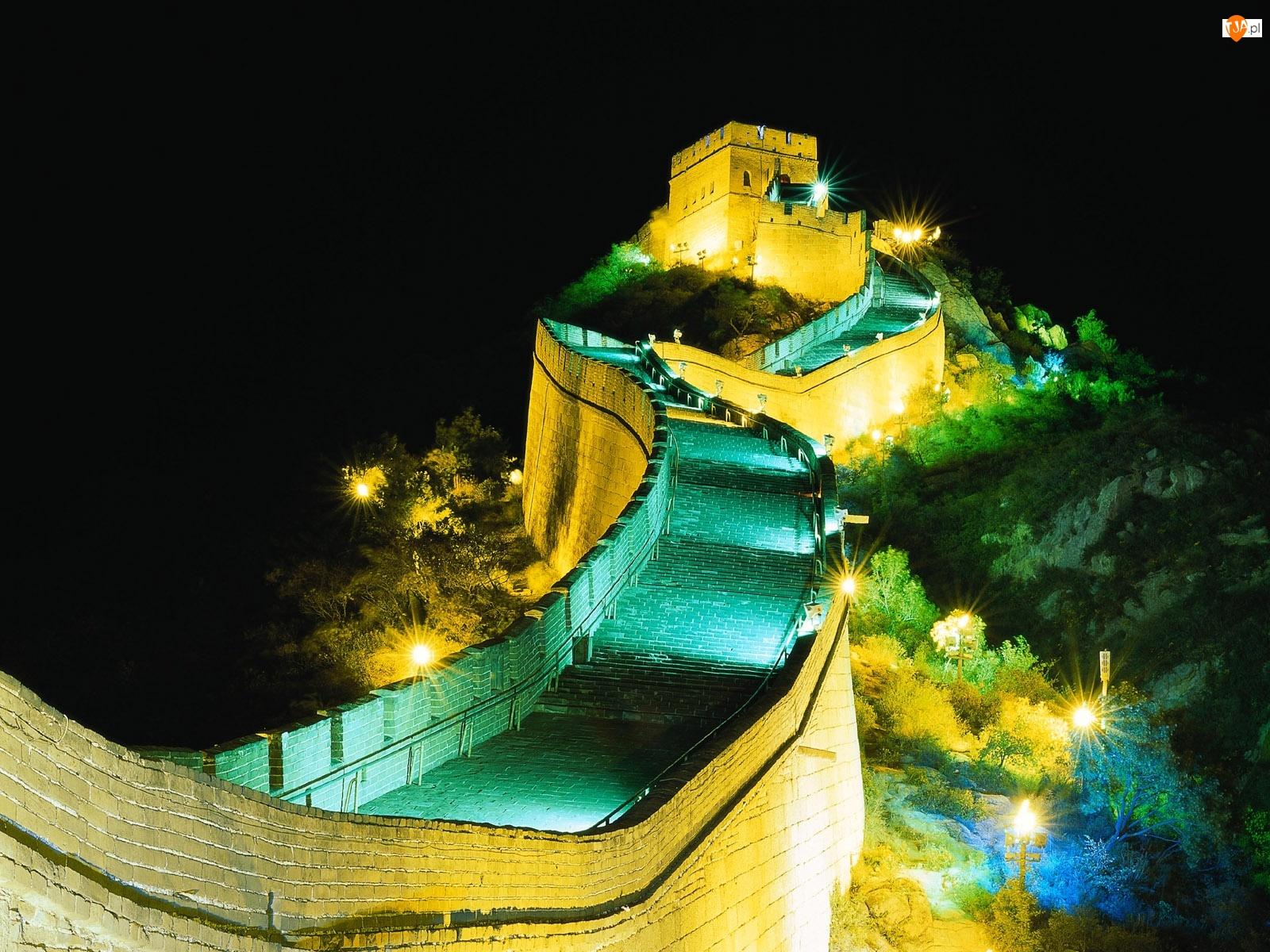 Noc, Latarnie, Wielki Mur Chiński