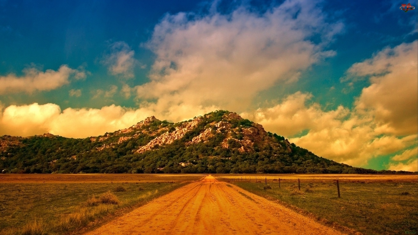 Polna, Trawa, Droga, Góry