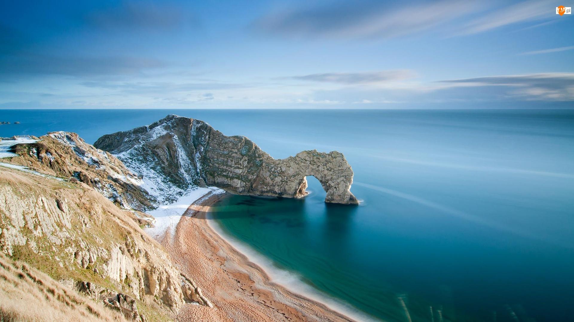 Wybrzeże Jurajskie, Skała, Anglia, Łuk wapienny Durdle Door, Hrabstwo Dorse, Morze