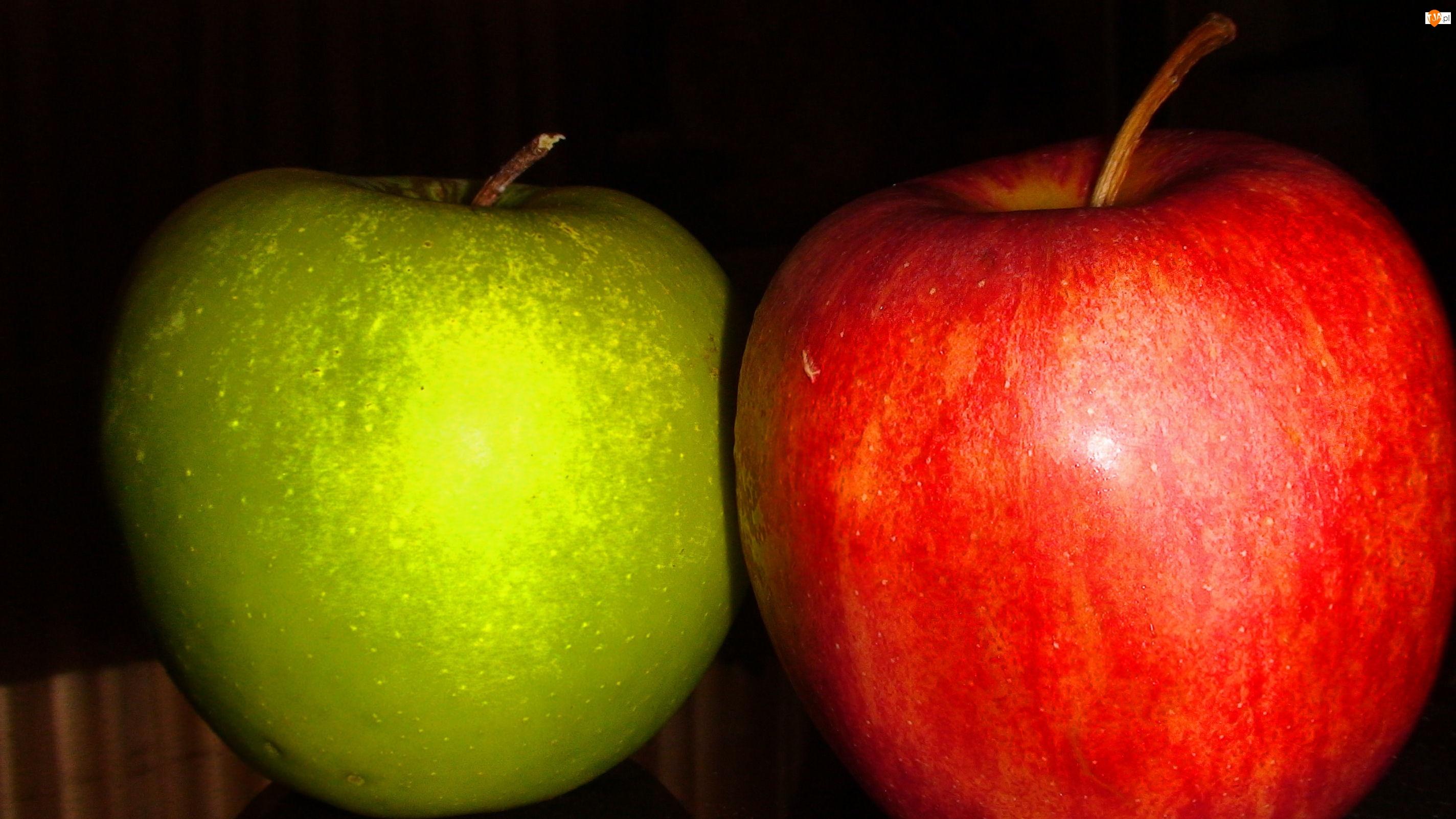 Czerwone, Jabłko, Zielone