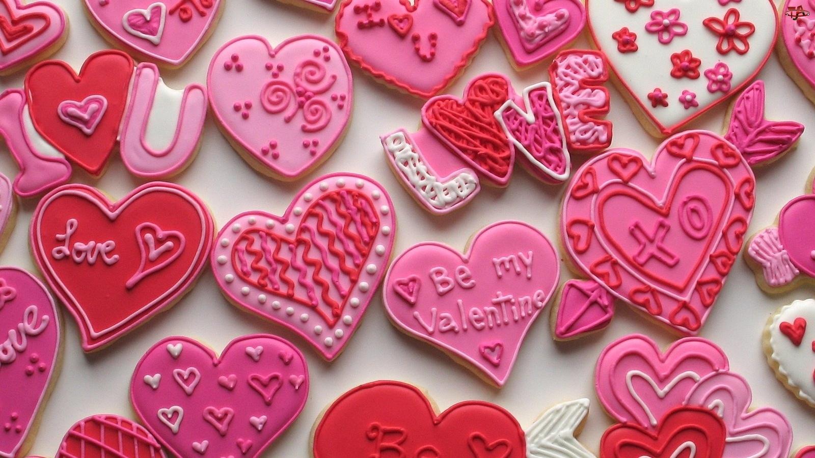 Ciasteczka, Serduszka, Walentynkowe