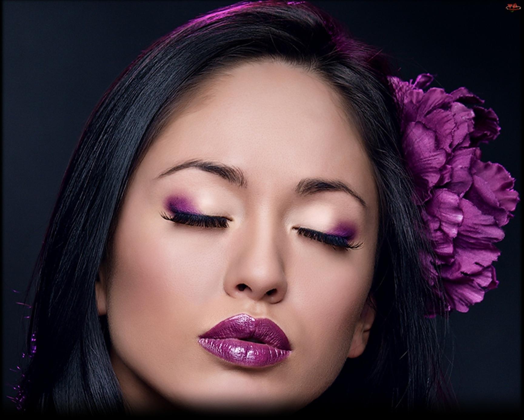 Kwiatek, Kobieta, Makijaż