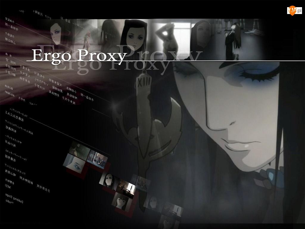 Ergo Proxy, dziewczyna, napisy, zdjęcia