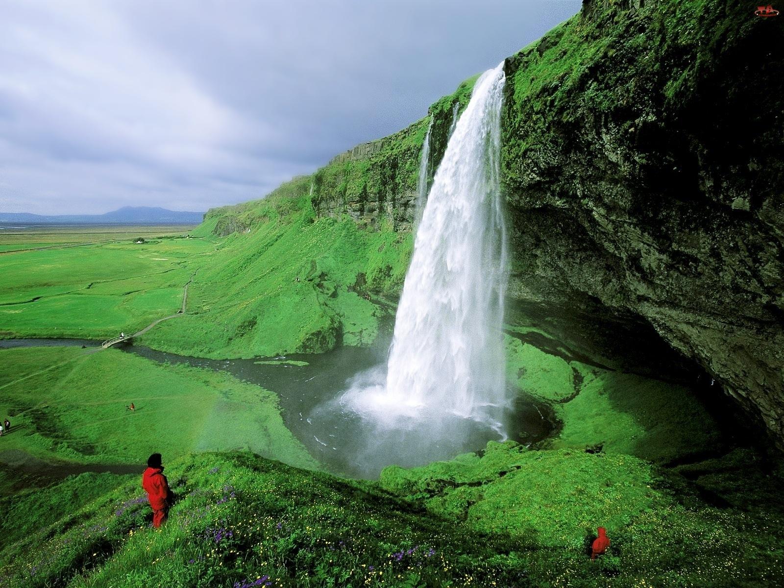 Islandia, Wodospad, Seljalandsfoss
