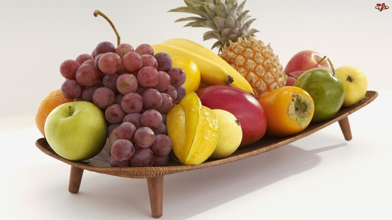 Ananas, Winogrona, Jabłka, Banany