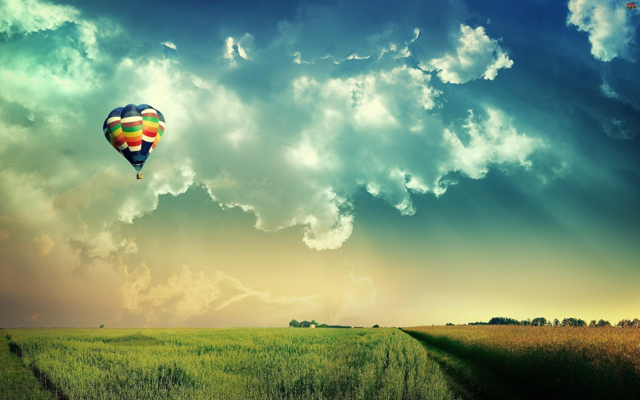 Balon, Chmury